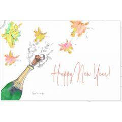 nieuwjaars ansichtkaart - happy new year - champagne