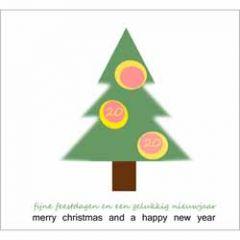 10 kerstkaarten - 2020 fijne feestdagen merry christmas - kerstboom
