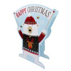 3d kerstkaart paper dazzle - happy christmas - ijsbeer