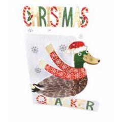 3d kerstkaart paper dazzle - christmas quacker