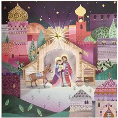 luxe christelijke kerstkaart second nature - kerststal|Muller wenskaarten