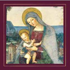 luxe christelijke kerstkaart woodmansterne - moeder en kind