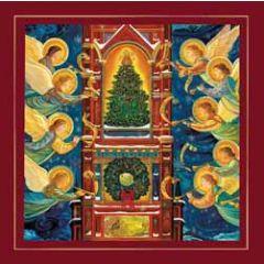 luxe christelijke kerstkaart woodmansterne - engelen