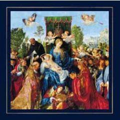 luxe christelijke kerstkaart woodmansterne - feast of the rose gardens