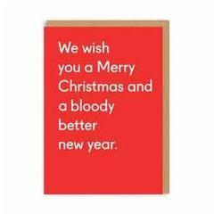 kerstkaart ohh deer - we wish you a merry christmas and a bloody better new year | muller wenskaarten