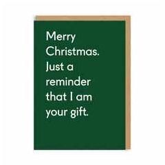 kerstkaart ohh deer - merry christmas i am your gift | muller wenskaarten