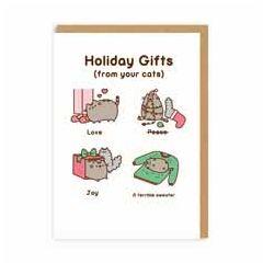 kerstkaart pusheen - holiday gifts from your cats| muller wenskaarten