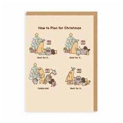 kerstkaart pusheen - how to plan for christmas | muller wenskaarten
