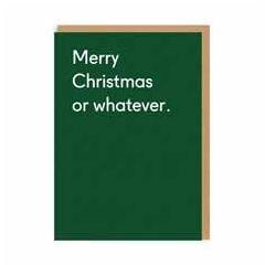 kerstkaart ohh deer - merry christmas or whatever | muller wenskaarten