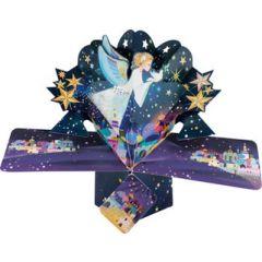 3D kerstkaart - pop up - engel