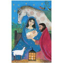 8 christelijke kerstkaartjes roger la borde | muller wenskaarten
