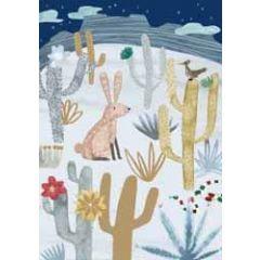 kerstkaart roger la borde - haas tussen cactussen