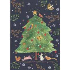 kerstkaart roger la borde - kerstboom