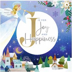 kerstkaart second nature - J is for joy and happiness