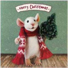 luxe kerstkaart santoro - tiny squee mousies - merry christmas