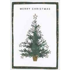 8 kerstkaarten - merry christmas - kerstboom