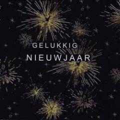 8 nieuwjaarskaarten - gelukkig nieuwjaar - vuurwerk