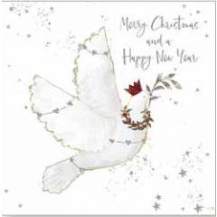 10 christelijke kerstkaarten voor amnesty international - merry christmas and a happy new year - duif