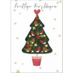 10 kerstkaarten boutique - prettige kerstdagen - kerstboom