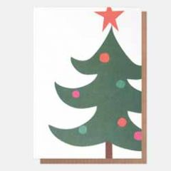 5 kerstkaarten neo-pops - kerstboom