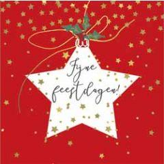 10 kerstkaartjes piano - fijne feestdagen - ster