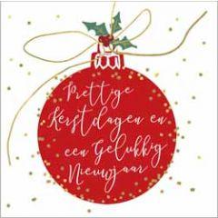 10 kerstkaartjes piano - prettige kerstdagen en een gelukkig nieuwjaar - kerstbal