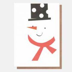 5 kerstkaarten neo-pops - sneeuwpop