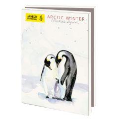 10 wenskaarten voor amnesty international - arctic winter - pinguins en ijsbeer