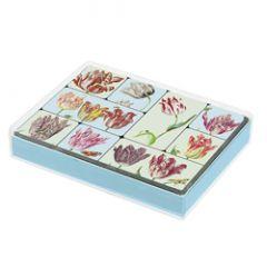 set van 9 koelkastmagneten voor amnesty international - tulpen