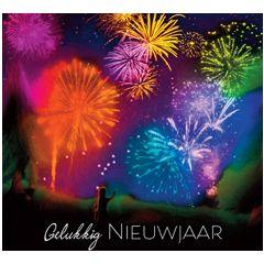 10 nieuwjaarskaarten muller wenskaarten - gelukkig nieuwjaar - vuurwerk