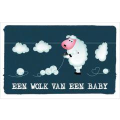 geboortekaartje - een wolk van een baby - schaap