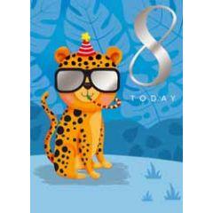 8 jaar - verjaardagskaart 8 today - tijger