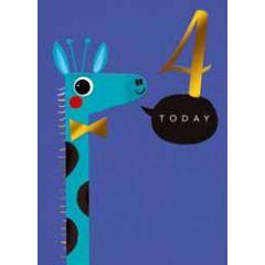 4 jaar - verjaardagskaary 4 today - giraf