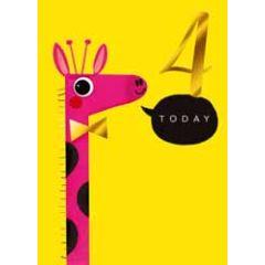 4 jaar - verjaardagskaart 4 today - giraf