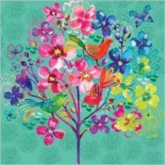 bloemenkaart clare maddicott  - met vogels