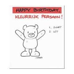 verjaardagskaart leendert jan vis - happy birthday kleurrijk persoon!