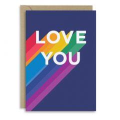 wenskaart new graphics - love you - regenboog/pride