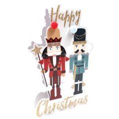 3d kerstkaart paper dazzle - happy christmas - notenkraker