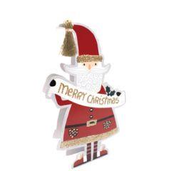 3d kerstkaart paper dazzle - merry christmas - kerstman