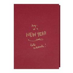 nieuwjaarskaart papette - hey! it's new year, lets celebrate!