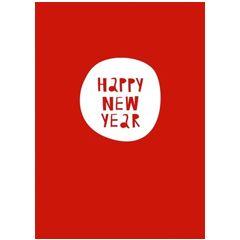 nieuwjaarskaart papette - happy new year Muller wenskaarten