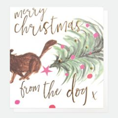 luxe kerstkaart caroline gardner - merry christmas from the dog x