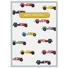 verjaardagskaart copper - happy birthday - auto's