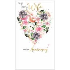 grote luxe jublieum wenskaart - to my loving wife on our anniversary