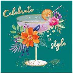 verjaardagskaart second nature - celebrate in style - cocktail