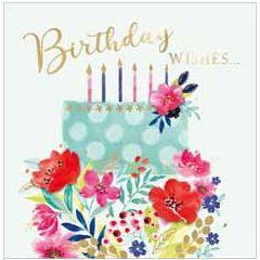 verjaardagskaart second nature - birthday wishes - taart met kaarsjes