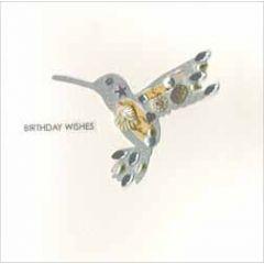 luxe handgemaakte verjaardagskaart jewelled - birthday wishes - kolibrie