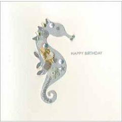 luxe handgemaakte verjaardagskaart jewelled - happy birthday - zeepaardje
