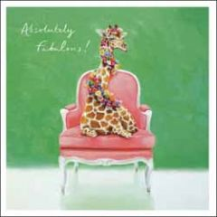 wenskaart woodmansterne - absolutely fabulous! - giraffe