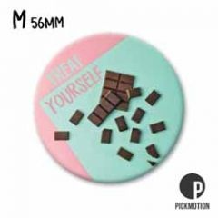koelkastmagneet pickmotion - treat yourself - chocola